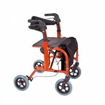 deambulatore rollator e carrozzina per anziani e disabili Kometa City Partner 2 in 1 Mediland
