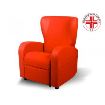poltrona relax elettrica Ambra E5 professional con tessuto antigoccia